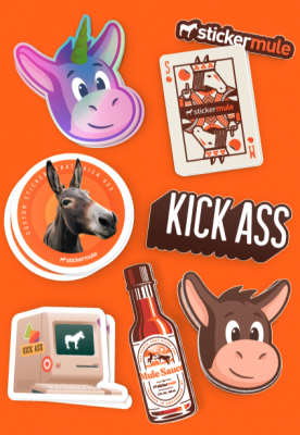 Free Sticker Mule limited edition sticker pack!