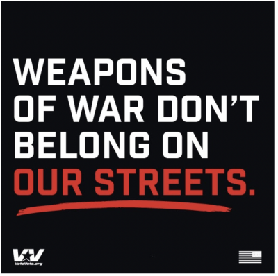 Free Sticker - Weapons of War don't belong on our streets