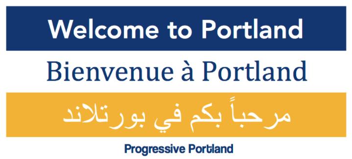 Free Sticker - Welcome tot Portland