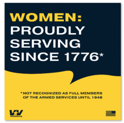 Free Sticker - Women Proudly Serving Since 1776