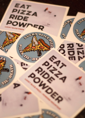 Free Stickers from Lucky Slice Pizza