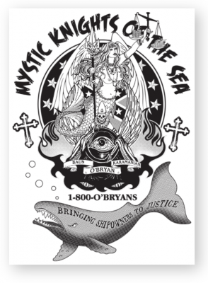Free Swag from O'Bryan Law Mystic Knights of the Sea