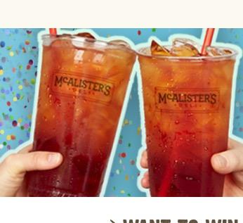 Free Tea at Mc Alister's deli on June 21