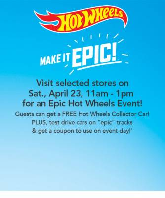 In Store Event: Free Toys R Us Hot Wheels Collector Car-In Store
