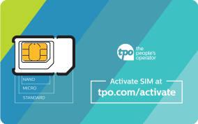FREE TPO Mobile GSM Sim Card