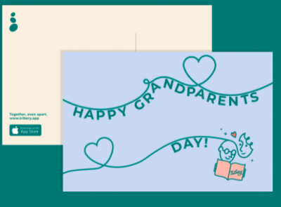 Free Tribery Personalized Postcards for Grandfather Day (Sept 14)