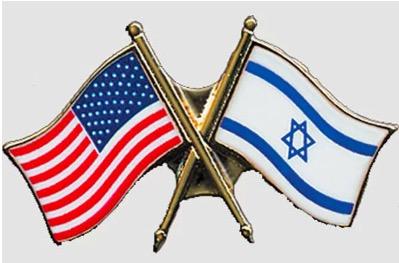 FREE US-Israel Flag pin