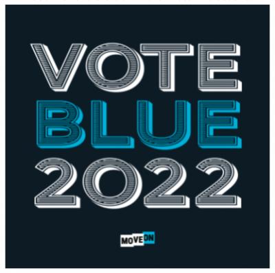 """free """"Vote Blue 2022"""" sticker"""