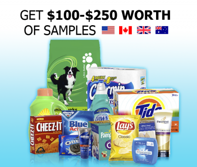 Get $100-$250 worth of samples