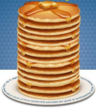 IHOP: March 4, 2014 Free Pancakes Celebrating National Pancake Day