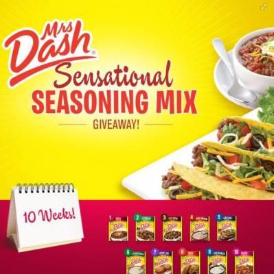 Mrs. Dash Facebook Weekly Seasoning Mix Giveaway!