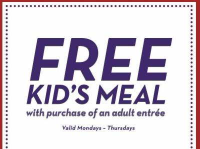 Olive Garden: Free Kid's Meal with Purchase of Adult Entree!