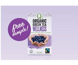 Sample of Qi Organic Green Tea