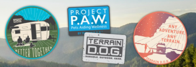 two free Terrain D.O.G.® stickers