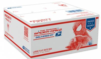 USPS- FREE Spider Man Flat Rate Shipping Boxes!
